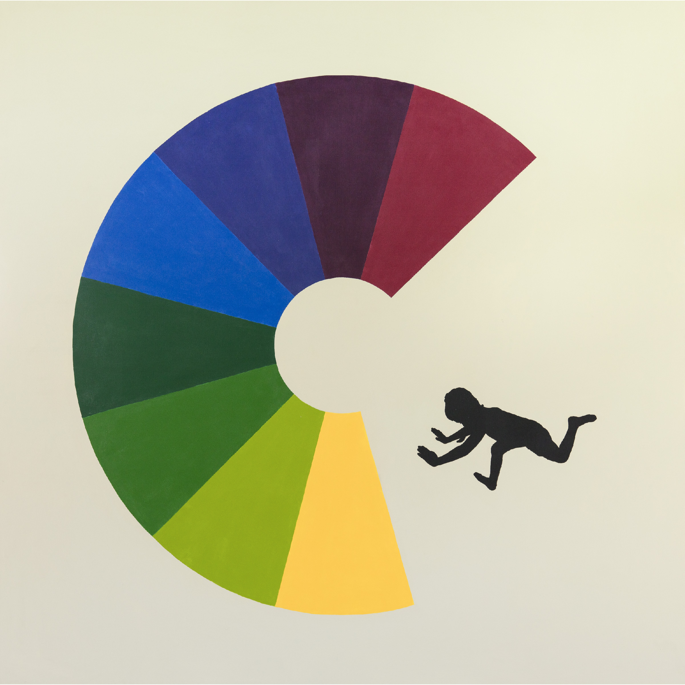 Jumping Boy Color Wheel