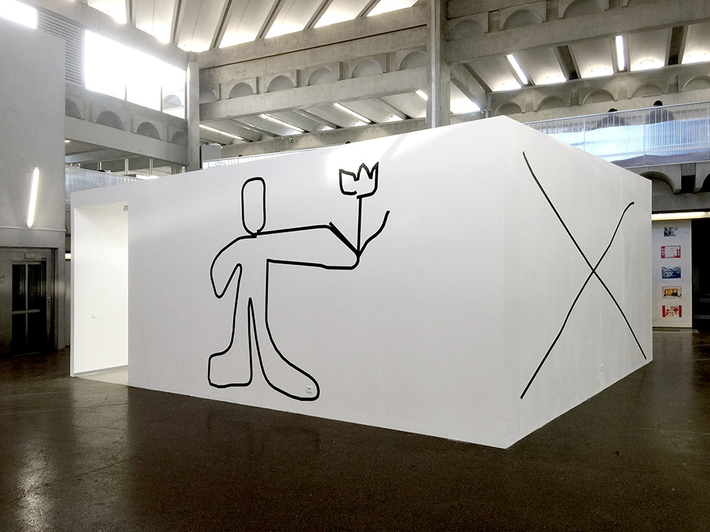 Wall drawings, Installation view at Ecole Nationale Superieure d