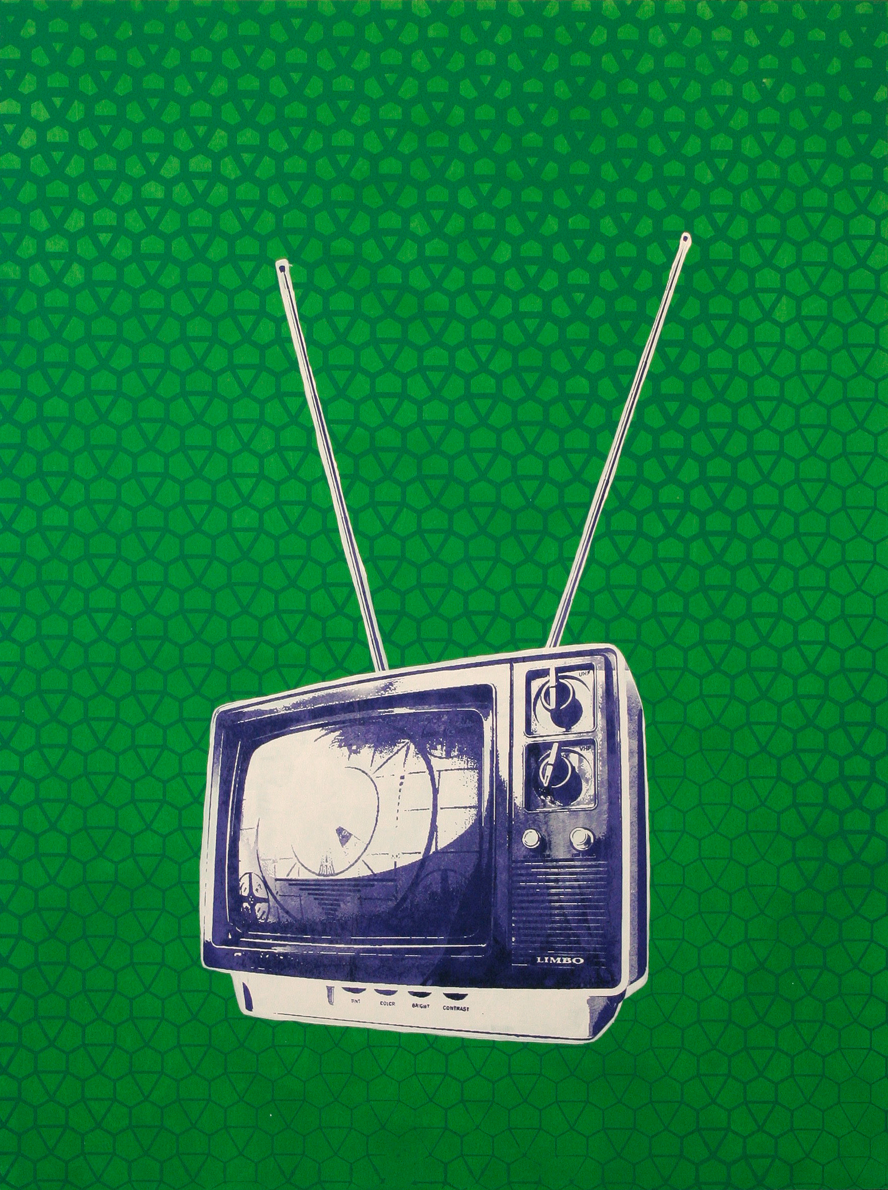 Tv on green